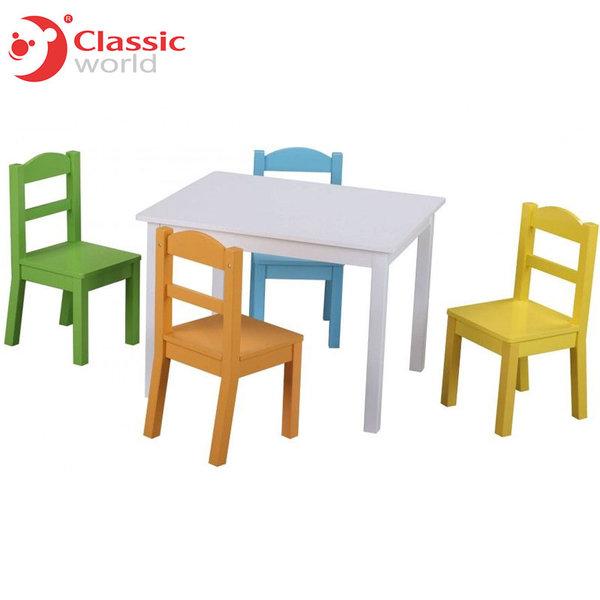 Classic World - Комплект детска маса и 4 стола 4800