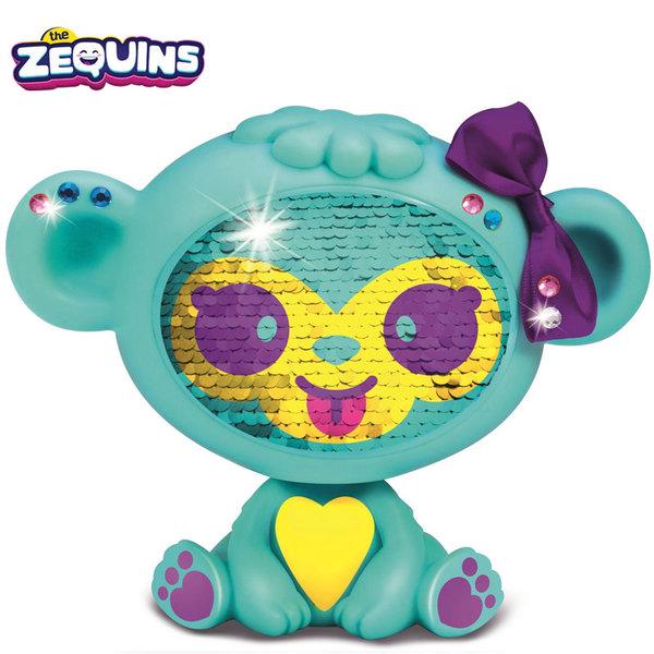Zequins - Животинче с пайети променящи личицето Aqua ZQ002D2
