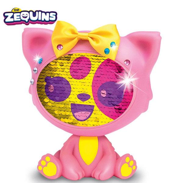 Zequins - Животинче с пайети променящи личицето Shimmy ZQ002D2