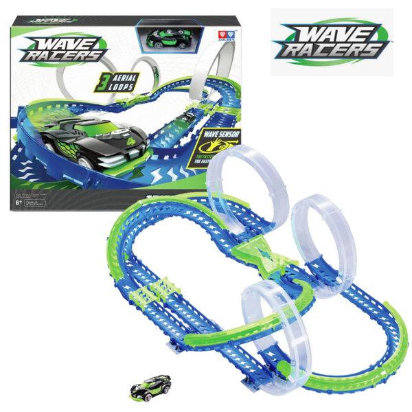 Wave Racers - Писта с кола със сензор за движение Triple Skyloop 211134