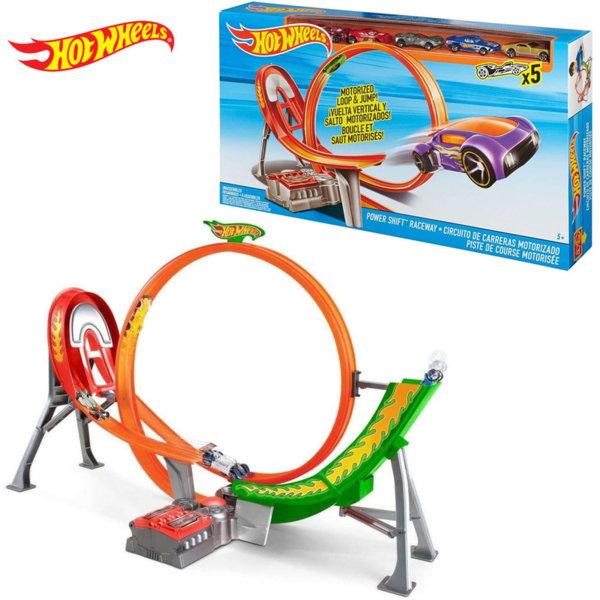 Hot Wheels - Моторизирана писта с лупинг Loop & Jump с 5 колички FCF18