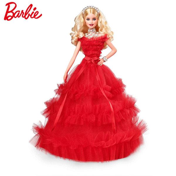 Barbie Holiday 2018 - Барби Празнична кукла в червена рокля FRN69
