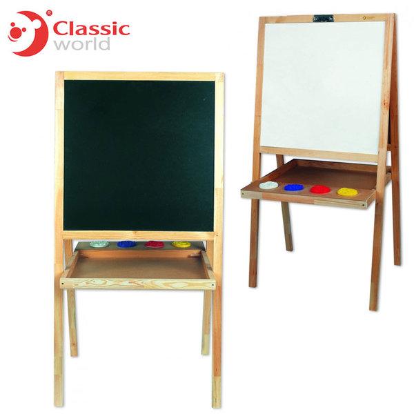 Classic World - Детска дървена дъска за рисуване 5в1 567