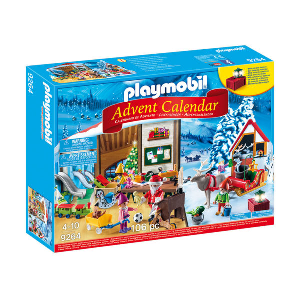 Playmobil - Коледен календар Работилницата на Дядо Коледа 9264
