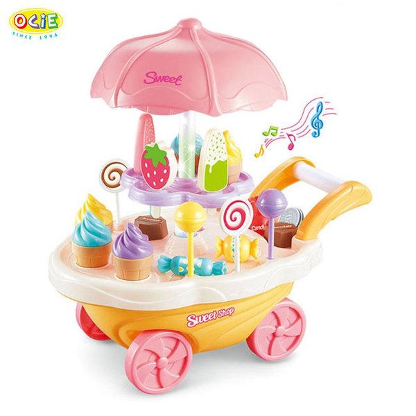 Ocie Детска количка сладкарница със сладолед и близалки 0639130