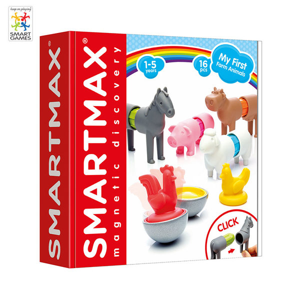 Smart Games - Магнитен конструктор SmartMax Животните от фермата smx221