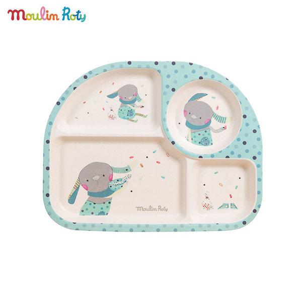 Moulin Roty Детска чиния за хранене с отделения 665242