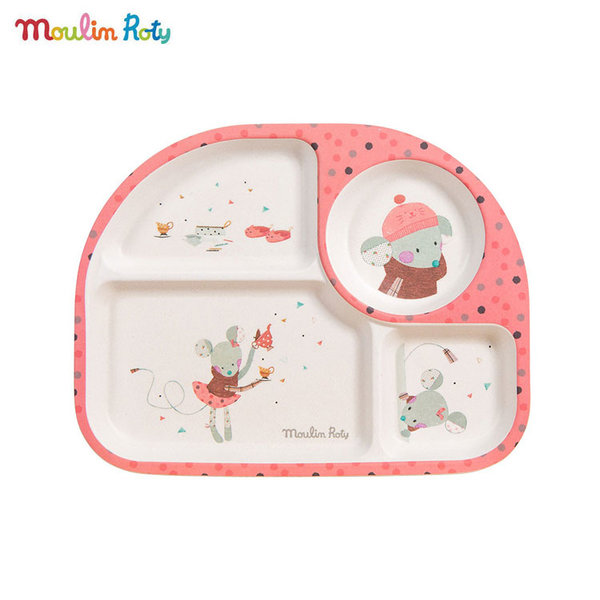 Moulin Roty Детска чиния за хранене с отделения 665244