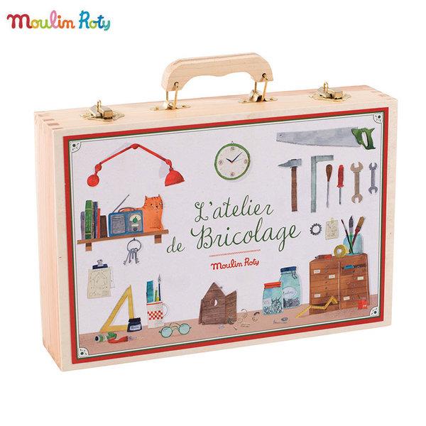 Moulin Roty Детски дървен куфар с инструменти 710412