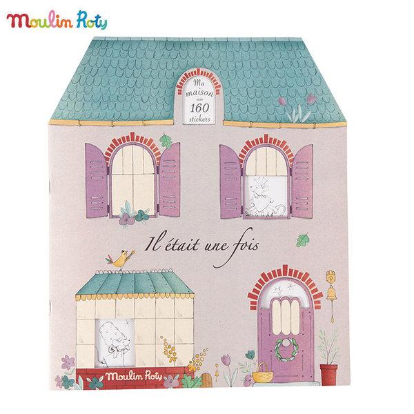 Moulin Roty Книжка за оцветяване със стикери 711377