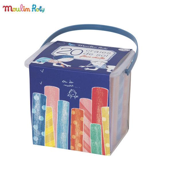 Moulin Roty Цветни тебшири в кутия 713135