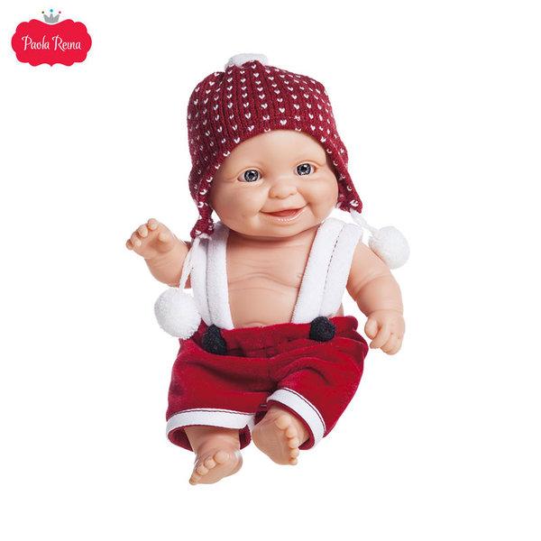 Paola Reina Los Peques Кукла бебе Greg с коледни дрешки 21см 01265