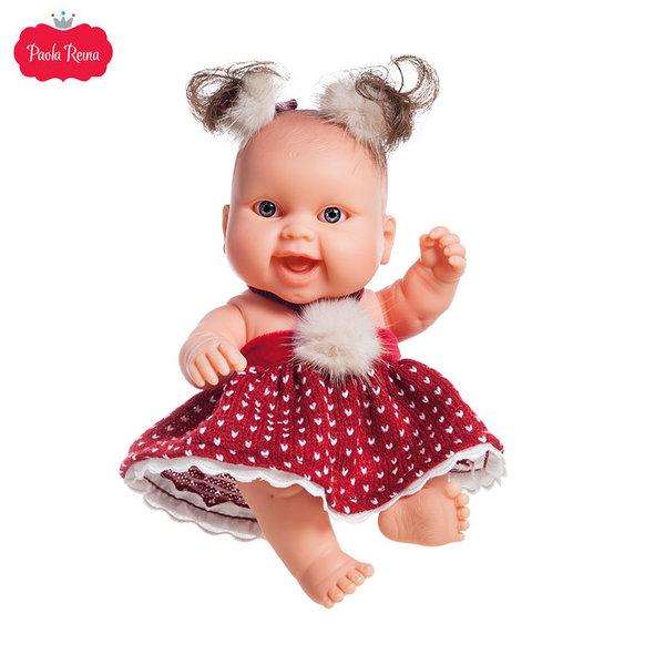 Paola Reina Los Peques Кукла бебе Berta с коледни дрешки 21см 01270