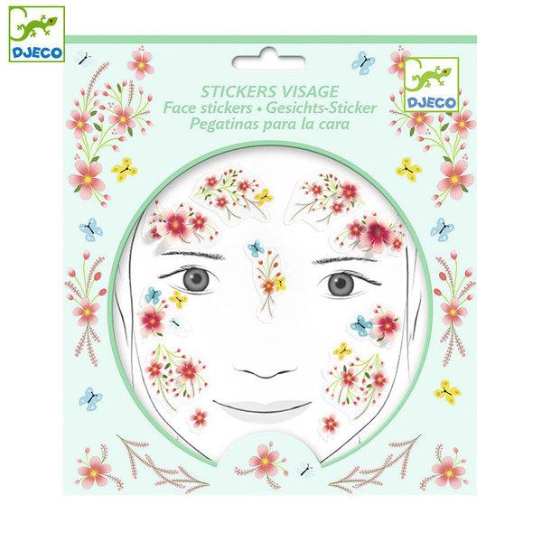 Djeco Детски стикери за лице Пролетна приказка DJ09212