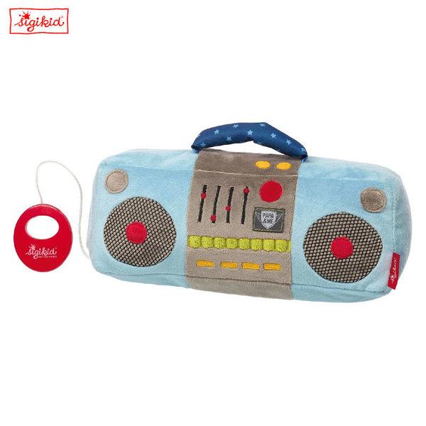 Sigikid Плюшена музикална играчка Касетофон 41922