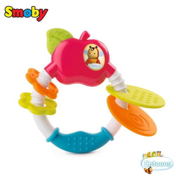 Smoby Бебешка дрънкалка гризалка ябълка 110207