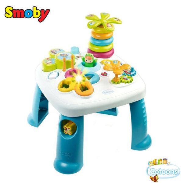 Smoby Занимателна музикална маса със светлини синя 211067