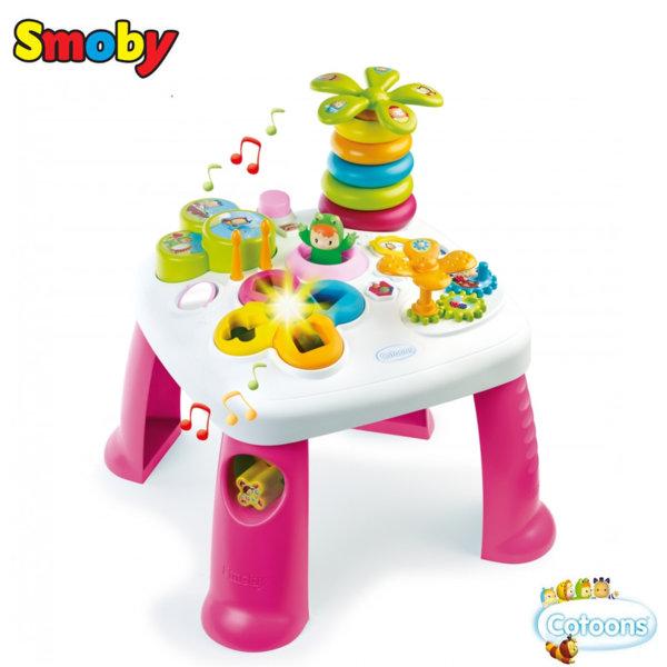 Smoby Забавна музикална маса със светлини розова 211067
