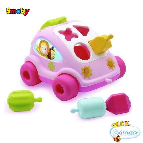 Smoby Детска количка сортер розова 211118