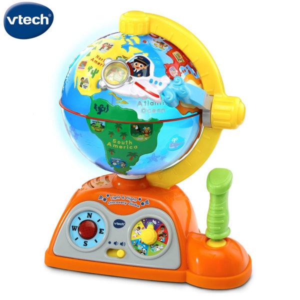 Vtech Детски интерактивен глобус със звук и светлина 197803