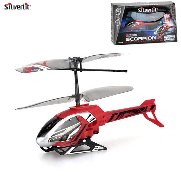 Silverlit Хеликоптер с дистанционно управление Scorpion X червен 84745