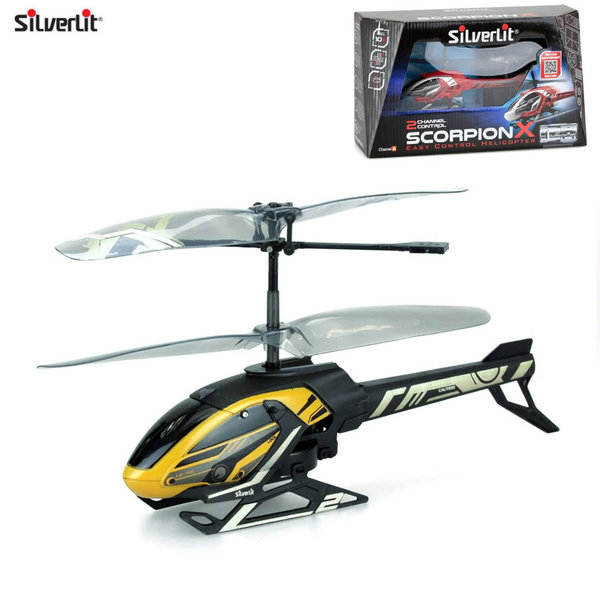 Silverlit Хеликоптер с дистанционно управление Scorpion X жълт 84745