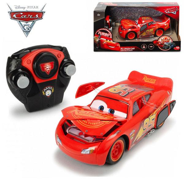 Simba Dickie Кола с дистанционно Disney Cars Блъскащия се Маккуин 84018