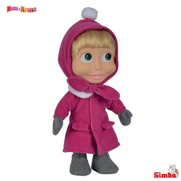Simba Маша и Мечока Кукла Маша със зимни дрехи 23см 1109301006