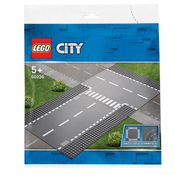 Lego 60236 City Права и Т-образно кръстовище