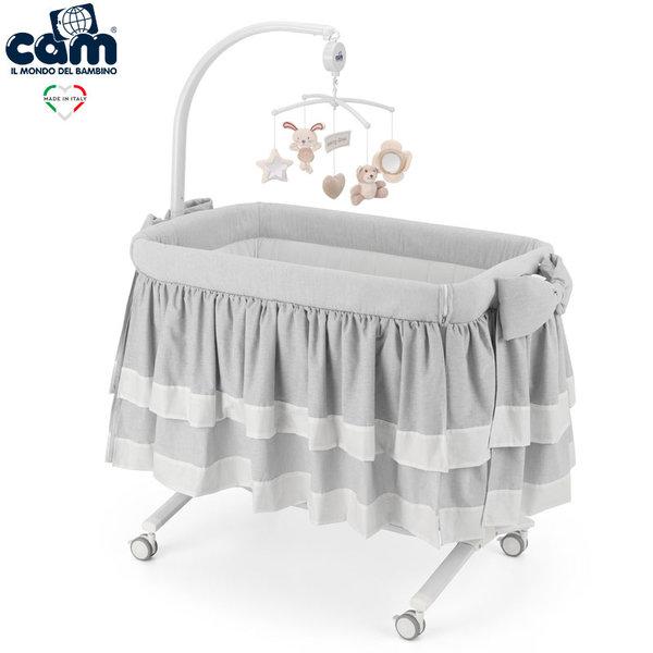 Cam Бебешко легло люлка Cullami Top 925/151 сиво
