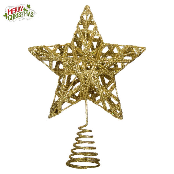 Коледна украса Връх за коледна елха звезда 20см 13791