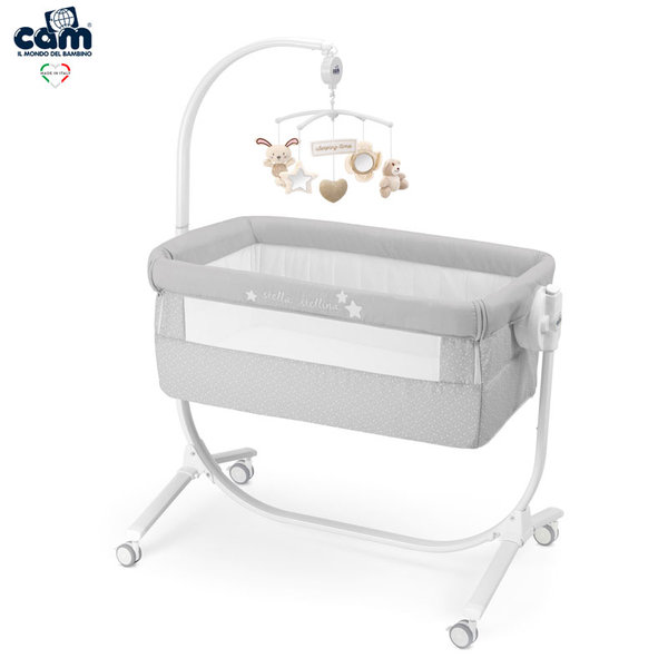 Cam Бебешко легло люлка Cullami 925/140 сиво