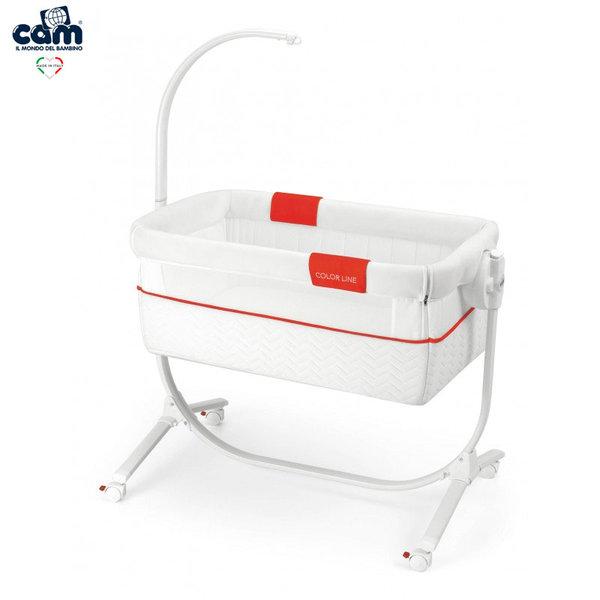 Cam Бебешко легло люлка Cullami 925/144 бяло и червено