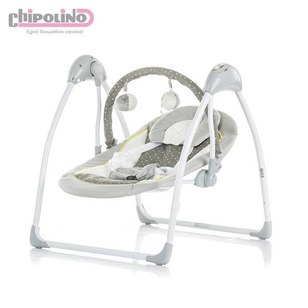 Chipolino Електрическа бебешка люлка с дистанционно Ариа сива