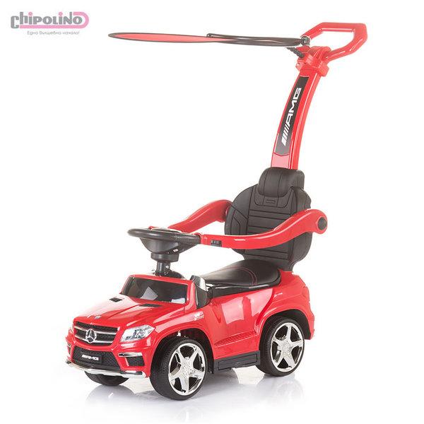 Chipolino Кола за бутане с крачета с родителски контрол и сенник Mercedes Benz GL63 AMG червена