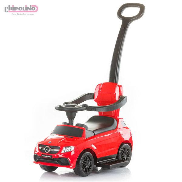 Chipolino Кола за бутане с крачета с родителски контрол Mercedes Benz GLE63 AMG червена