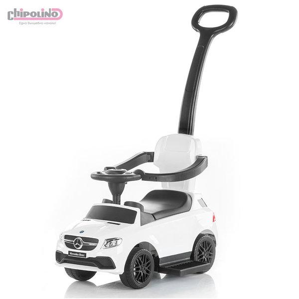 Chipolino Кола за бутане с крачета с родителски контрол Mercedes Benz GLE63 AMG  бяла