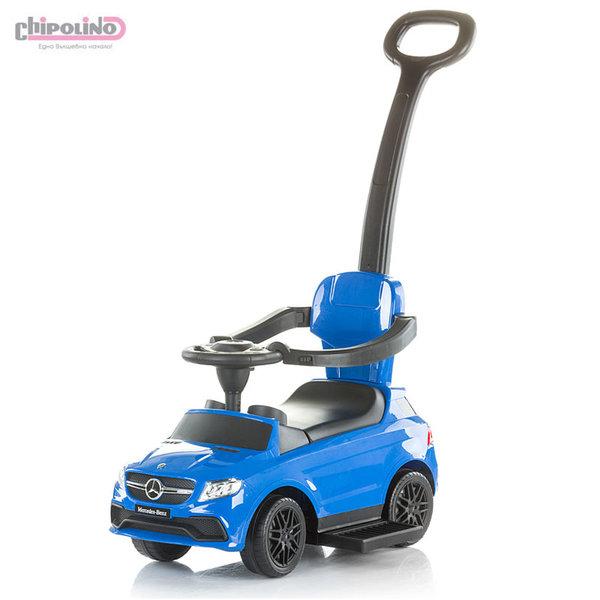 Chipolino Кола за бутане с крачета с родителски контрол Mercedes Benz GLE63 AMG синя