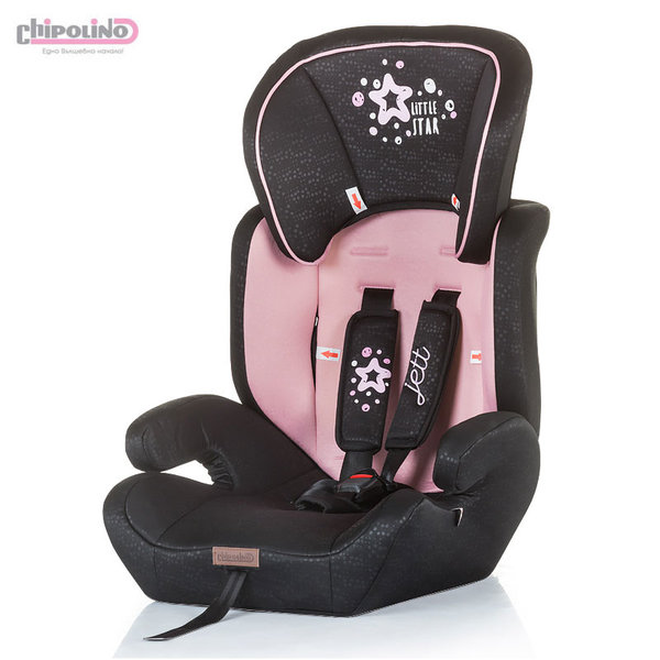 Chipolino Столче за кола Джет розово (9-36kg)