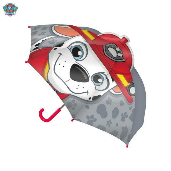 Paw Patrol Детски чадър 3D Пес Патрул Маршал 4141