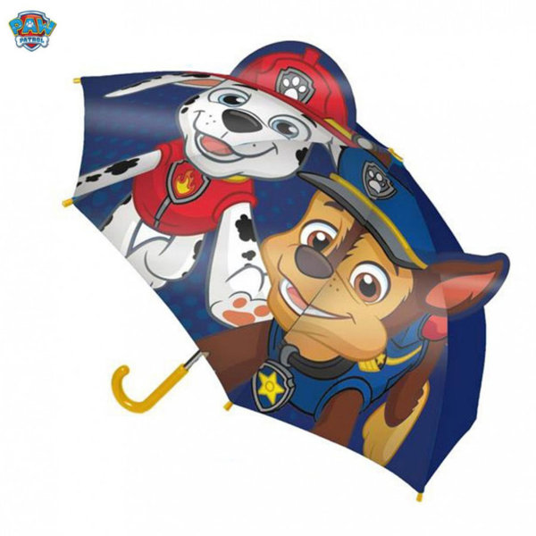 Paw Patrol Детски чадър 3D Пес Патрул Маршал и Чейс 4144