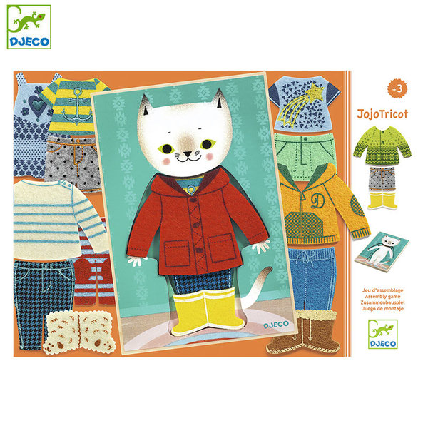 Djeco Детска игра Облечи котето Jojo tricot DJ01696