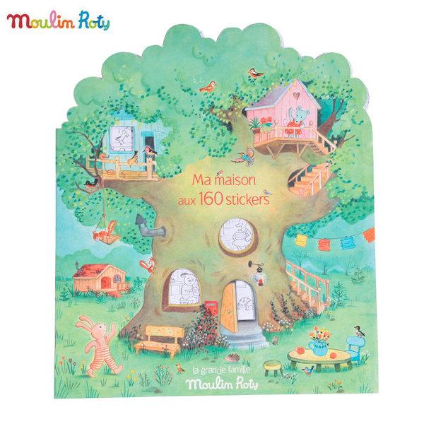 Moulin Roty Книжка за оцветяване със стикери 632626