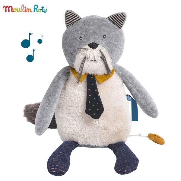 Moulin Roty Плюшено музикално коте Fernand 27см 666042