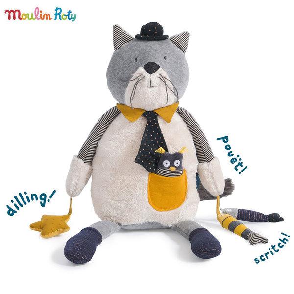 Moulin Roty Плюшена играчка с активности коте Fernand 48см 666076