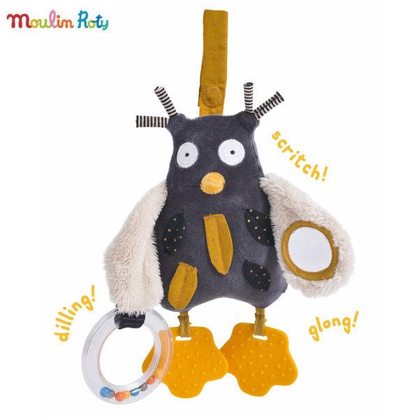 Moulin Roty Бебешка дрънкалка Бухал 666077