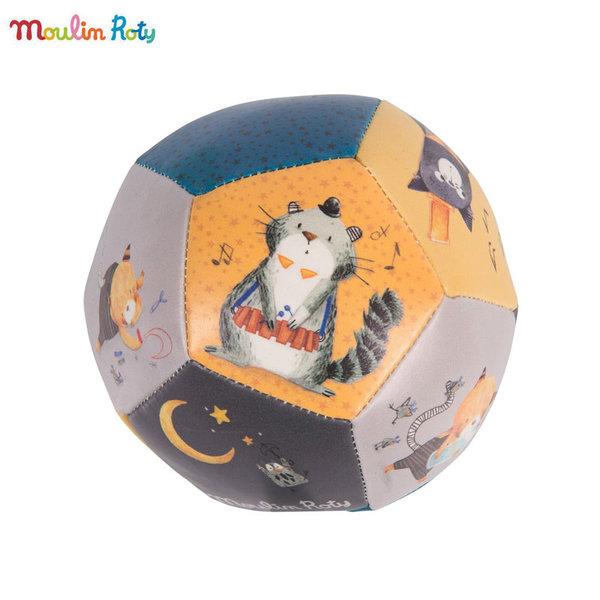 Moulin Roty - Бебешка топка Les Moustaches 10см 666510