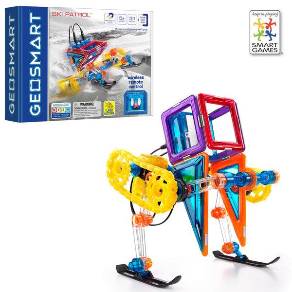 Smart Games Магнитен конструктор GeoSmart Ski Patrol GEO214 5+