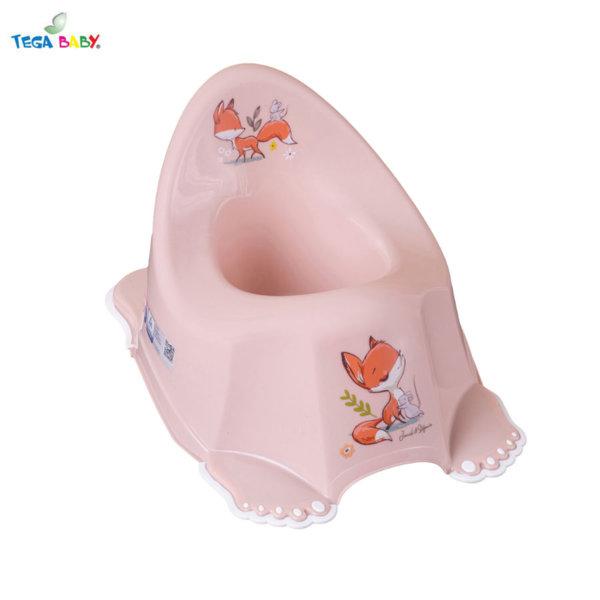 Tega Baby Бебешко анатомично музикално гърне Горска приказка розово
