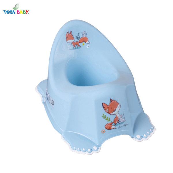 Tega Baby Бебешко анатомично музикално гърне Горска приказка синьо
